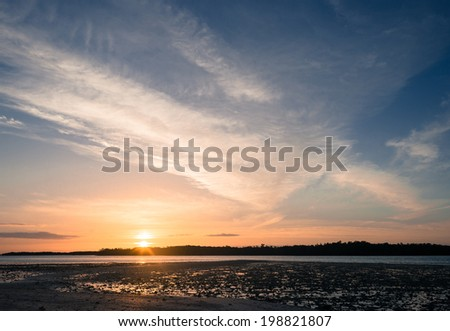 Sunset in Everglades, South Florida - stock photo