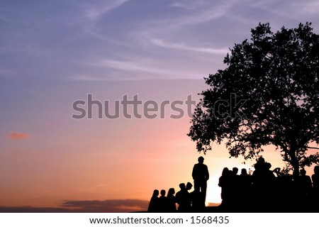 Sunset in Mt Abu, India. - stock photo