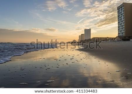 Sunset in Myrtle Beach - stock photo