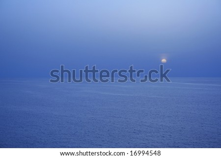 Sunset in the Ocean - stock photo