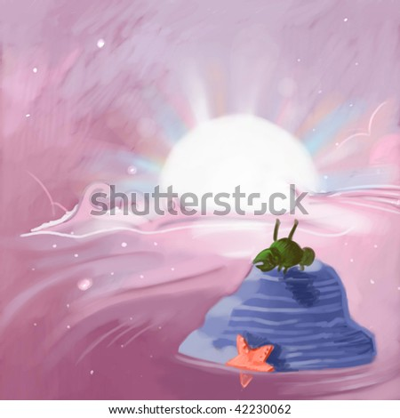 sunset inspiration (search the word nikos for more) - stock photo