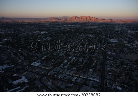 sunset - las vegas - stock photo