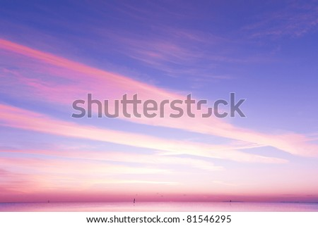 Sunset of Ruby and Gold - stock photo