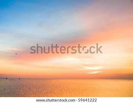 Sunset or Sunrise - stock photo