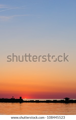 Sunset Over the Chesapeake Bay - stock photo