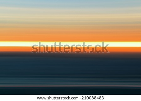 Sunset panning from Big Sur California. - stock photo