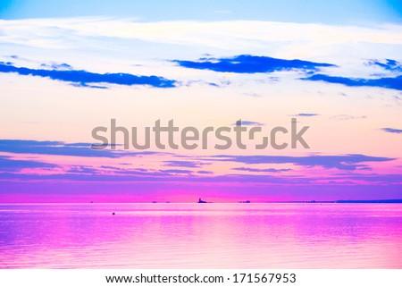 Sunset Paradise Cloudscape  - stock photo