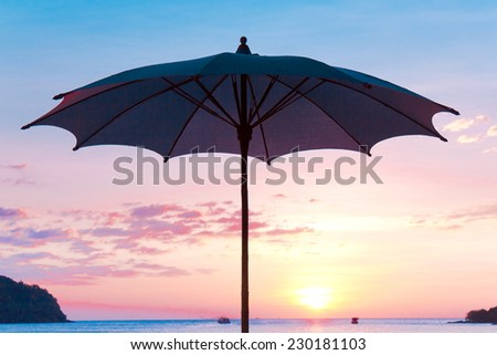 Sunset Paradise Night is Coming  - stock photo