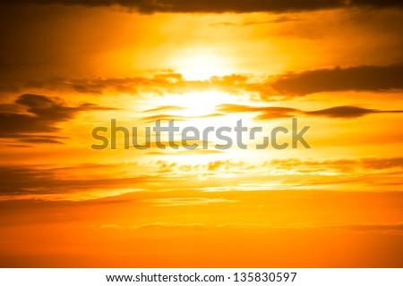 sunset photo as background - stock photo