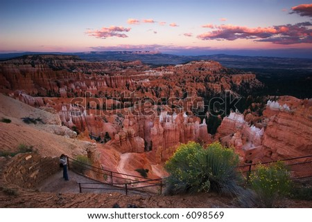 Sunset Point, Bryce Canyon National Park - stock photo
