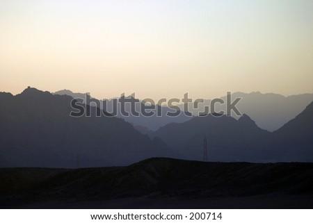 Sunset Sinai, Egypt - stock photo
