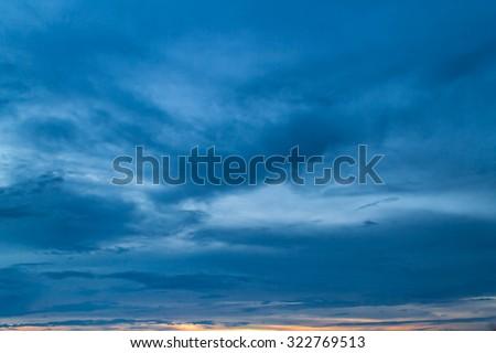 Sunset sky and cloud - stock photo