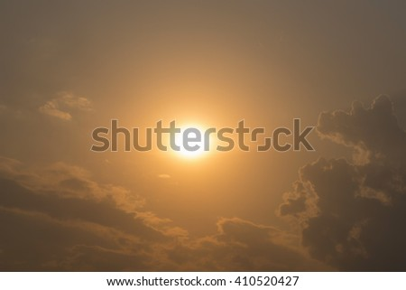 Sunset sky and cloud - stock photo