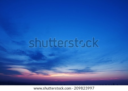 Sunset sky - clouds  - stock photo