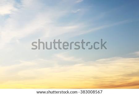 Sunset sky in sunray - stock photo