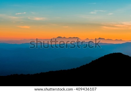 sunset,sunrise - stock photo