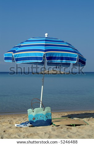 SUnshade on the beach - stock photo