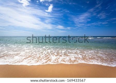 Sunshine Coast Queensland coastline - stock photo