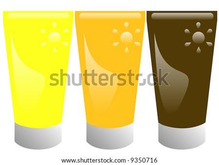 suntan lotions for different types of skin - stock photo