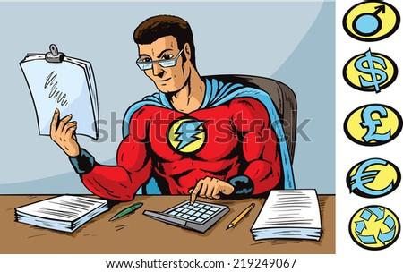 Super accountant - stock photo