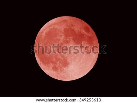 super blood moon, lunar eclipse, los angeles, california - stock photo