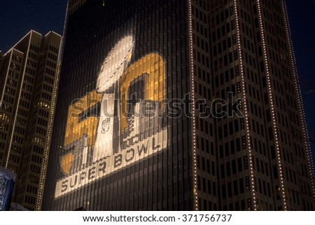 Super Bowl City at the Embarcadero, San Francisco, CA 31 january 2016 - stock photo