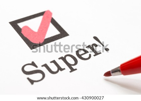 Super check boxes  - stock photo