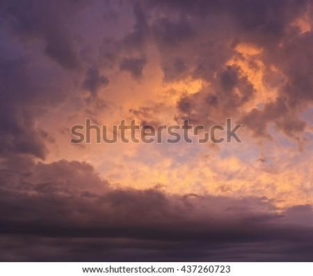 Super dramatic sky - stock photo