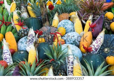 Super food. Frame of healthy vegan ingredients. Healthy food concept. - stock photo