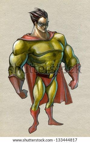 Super hero - stock photo