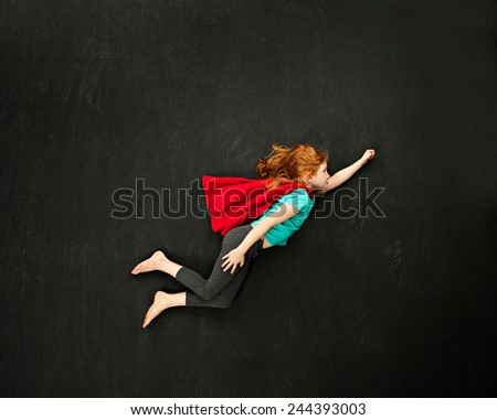 Super hero girl concept - stock photo