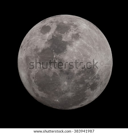 Super Moon in High resolution - stock photo