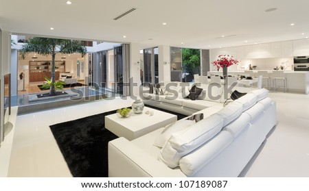 Superb house interior - stock photo