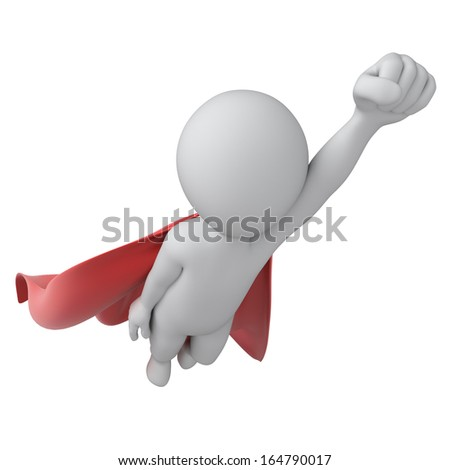 superhero, image with a work path - stock photo