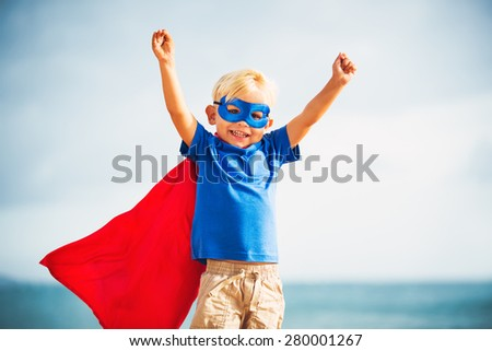 Superhero Kid - stock photo