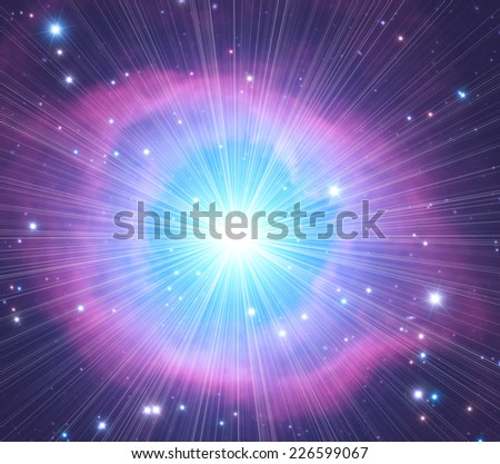 Supernova explosion in a distant nebula. Elements of this image furnished by NASA.  - stock photo