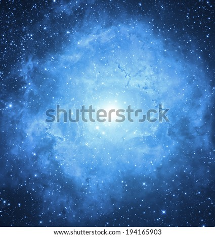 Supernova nebula.  - stock photo