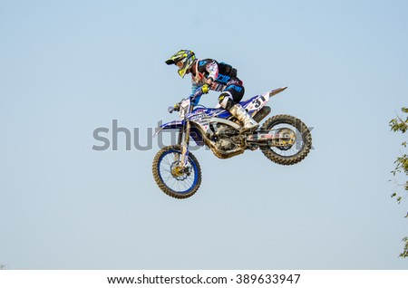 SUPHANBURI - MARCH 06 : Alex Snow #31 with Yamaha Motorcycle in competes during the FIM MXGP Motocross Wolrd Championship Grand Prix of Thailand 2016 on March 06, 2016 in Suphanburi, Thailand. - stock photo