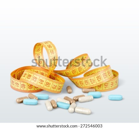 Supplement, weight, loss. - stock photo