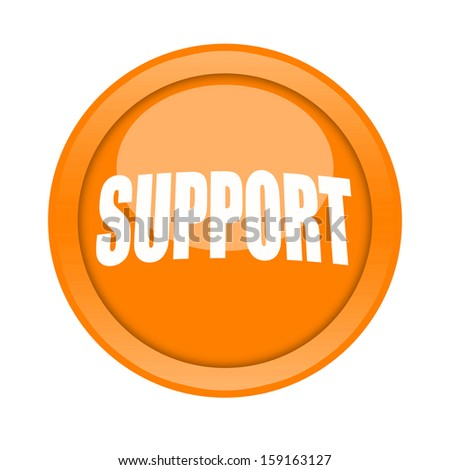 Support button - stock photo