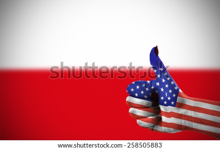 Support from United States for Poland - stock photo