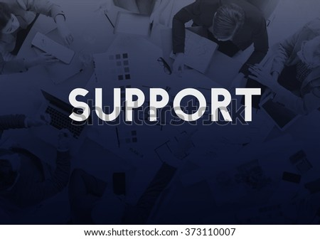 Support Satisfaction Service Helpful Motivation Concept - stock photo