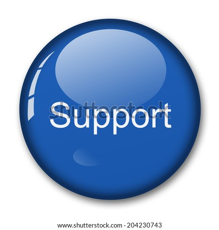 support sign - stock photo