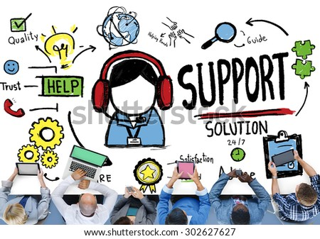 Support Solution Advice Help Quality Care Team Concept - stock photo