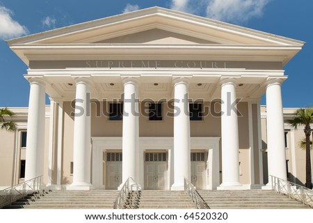 Supreme Court Building in Tallahassee, Florida. - stock photo