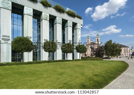Supreme Court building in Warsaw, Poland during summer time - stock photo