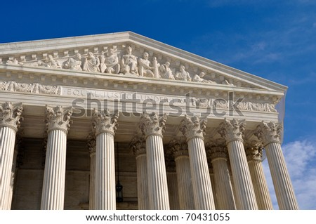 Supreme Court Building of the United States - stock photo