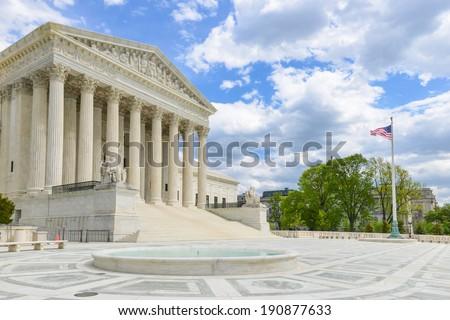 Supreme Court Building, Washington D.C. United States of America - stock photo