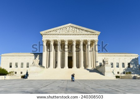 Supreme Court Building, Washington D.C. United States of America  - stock photo
