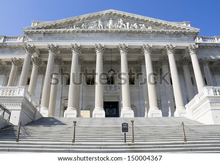 Supreme Court building,Washington, DC, USA. - stock photo